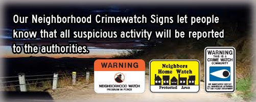 Crimewatch Signs